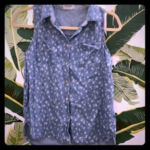 4ourdreamers Sleeveless collar top size size XS